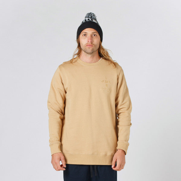 Lower TD Crew / Crossroads (Embroidered) - Tan