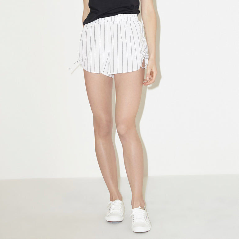 The Fifth Label Cubic Stripe Short - White/Charcoal