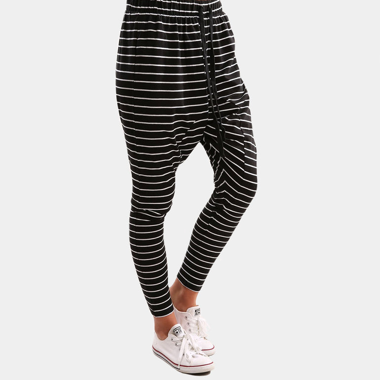 The Fifth Label Nothing To Chance Pant in Black/White Stripe