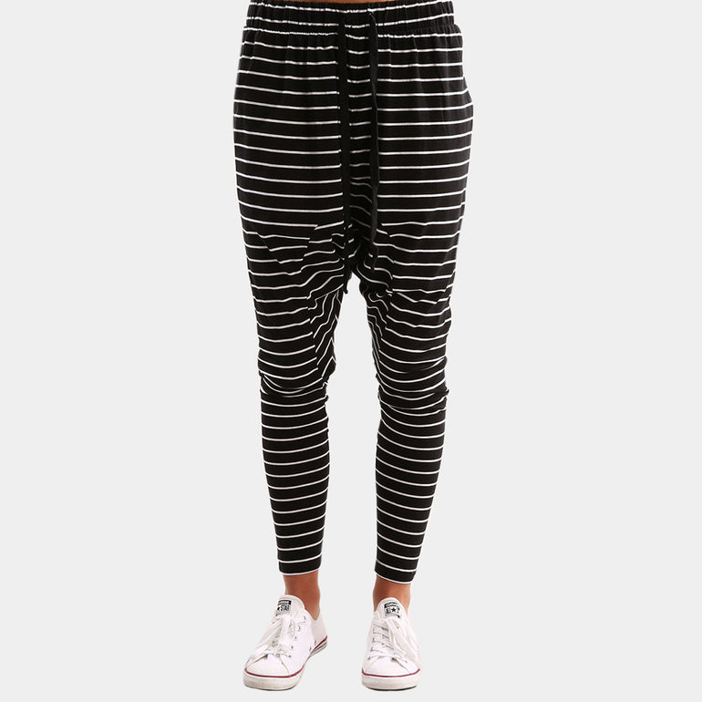 The Fifth Label Nothing To Chance Pant - Black/White Stripe