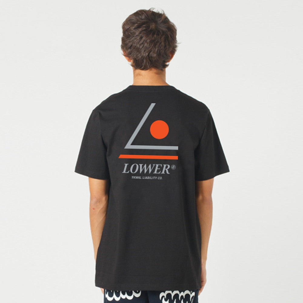 Lower QRS Tee Tri-Lo in Black
