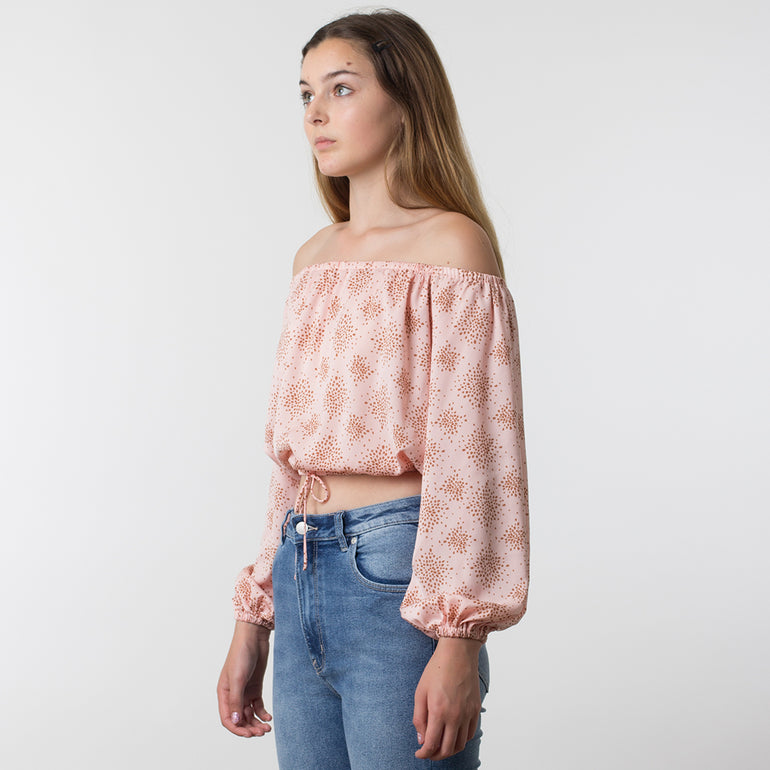 The Fifth Label Emergent Top in Rose Firefly