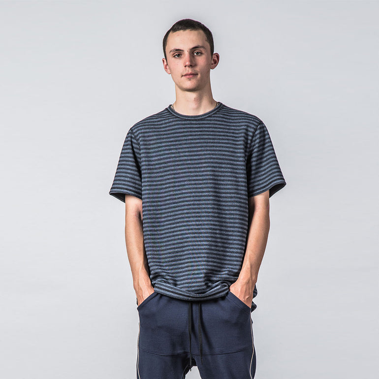 Thing Thing Enth Tee - Navy Grain