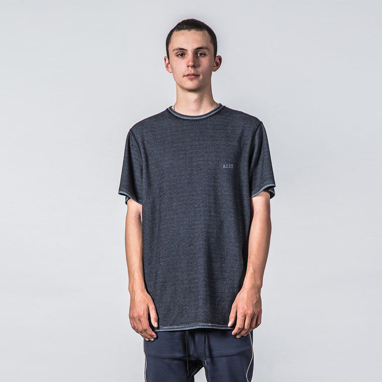 Thing Thing Enth Tee in Navy Grain