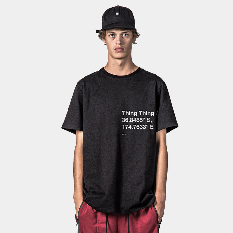 Thing Thing Plot Hvy Tee - Black