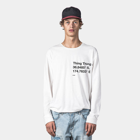 Thing Thing Plot Solid LS Tee - White
