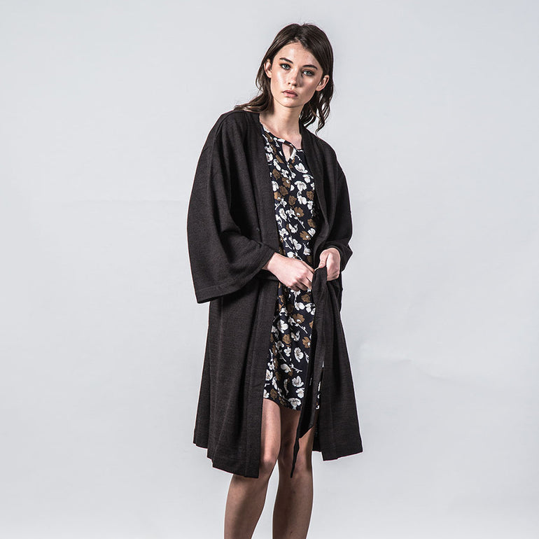 Thing Thing Mira Knitted Kimono in Black