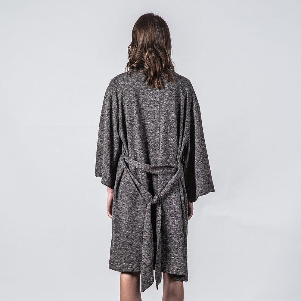 Thing Thing Mira Knitted Kimono (Black Speckle)