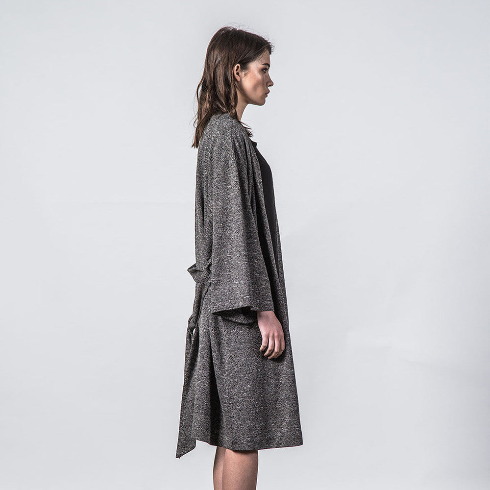 Thing Thing Mira Knitted Kimono Black Speckle