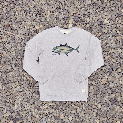 Just Another Fisherman Trevally Crew - Grey Marle
