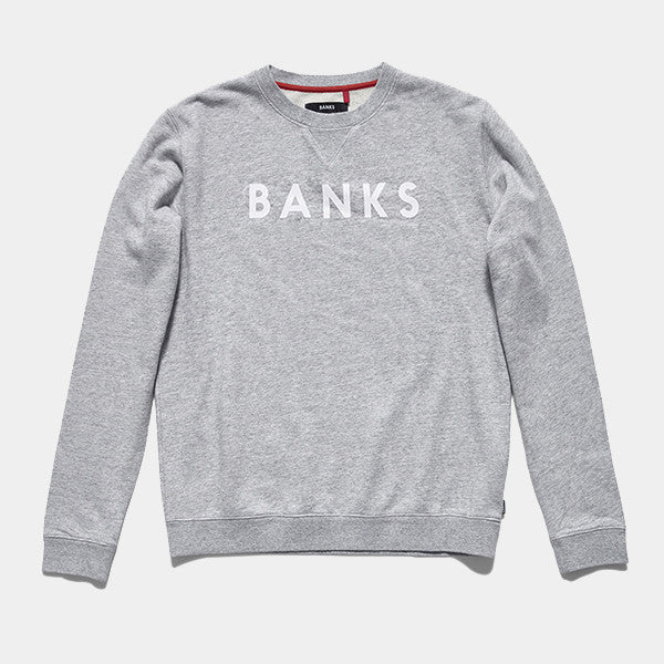 BANKS Classic Crew - Heather Grey