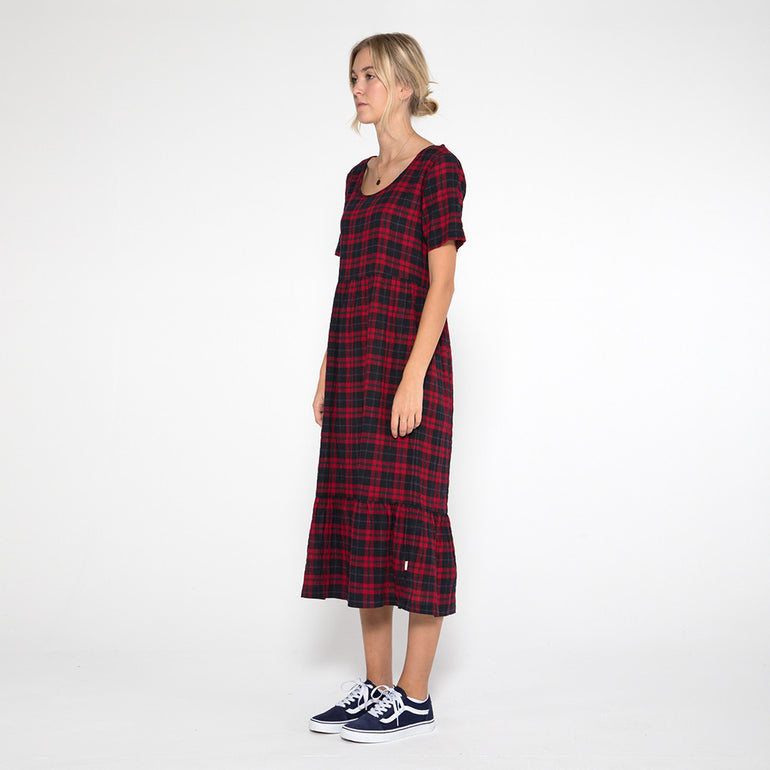 Now & Then Valentina Dress in Check