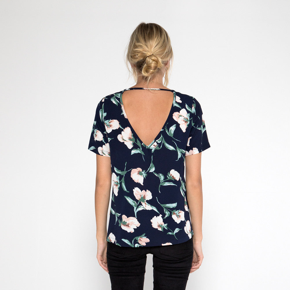 Now & Then Valentina Top Floral