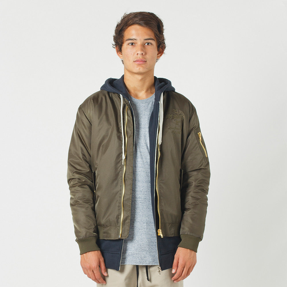 Lower Bruiser Bomber / Crossroads (Embroidered) - Olive