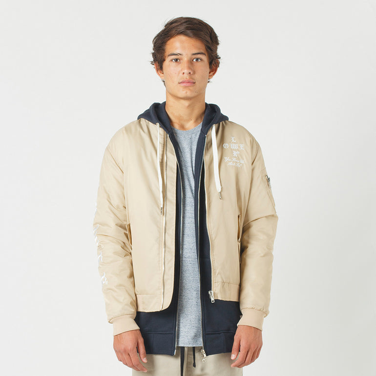 Lower Bruiser Bomber / Crossroads (Embroidered) - Tan