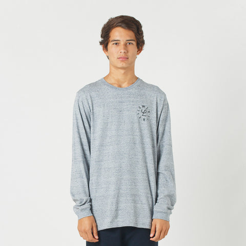 Lower QRS L/S Tee / Infinity - Grey