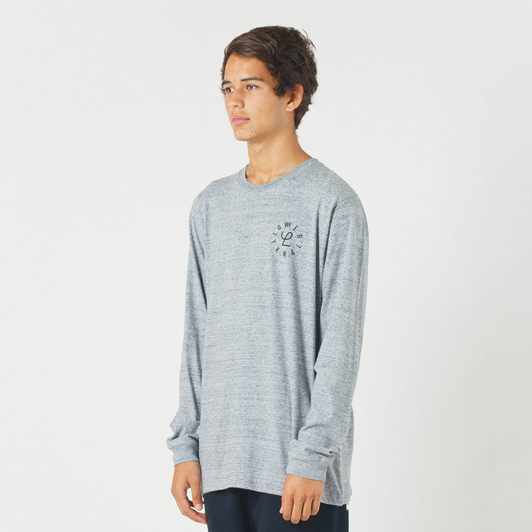 Lower QRS L/S Tee / Infinity in Grey