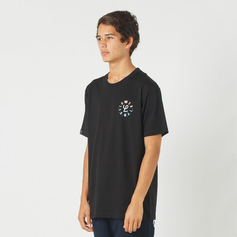 Lower QRS Tee / Infinity in Black
