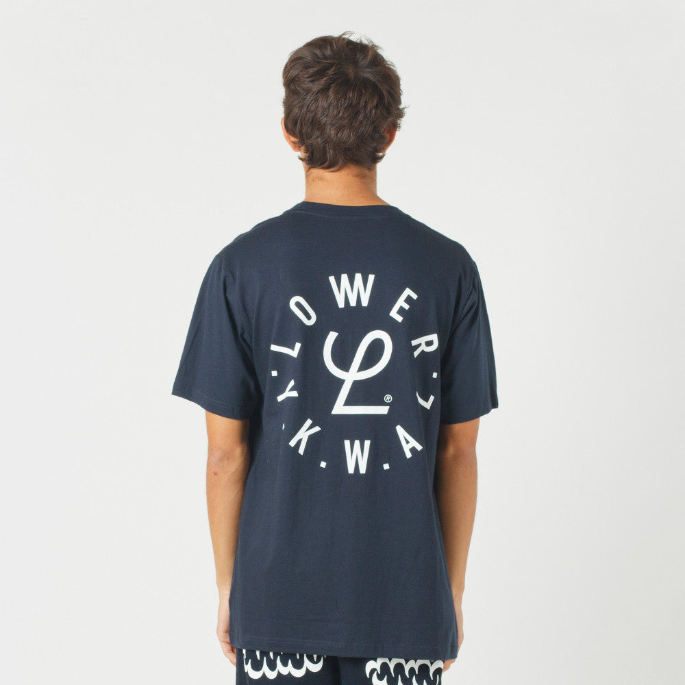 Lower QRS Tee / Infinity Navy