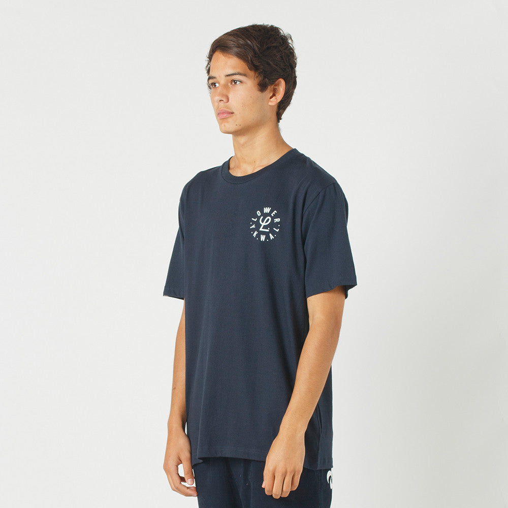 Lower QRS Tee / Infinity in Navy