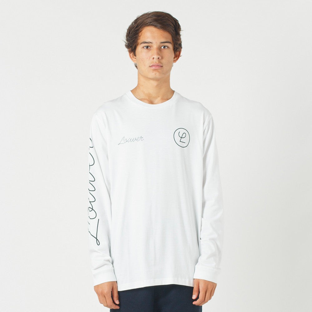Lower QRS L/S Tee / Tier - White