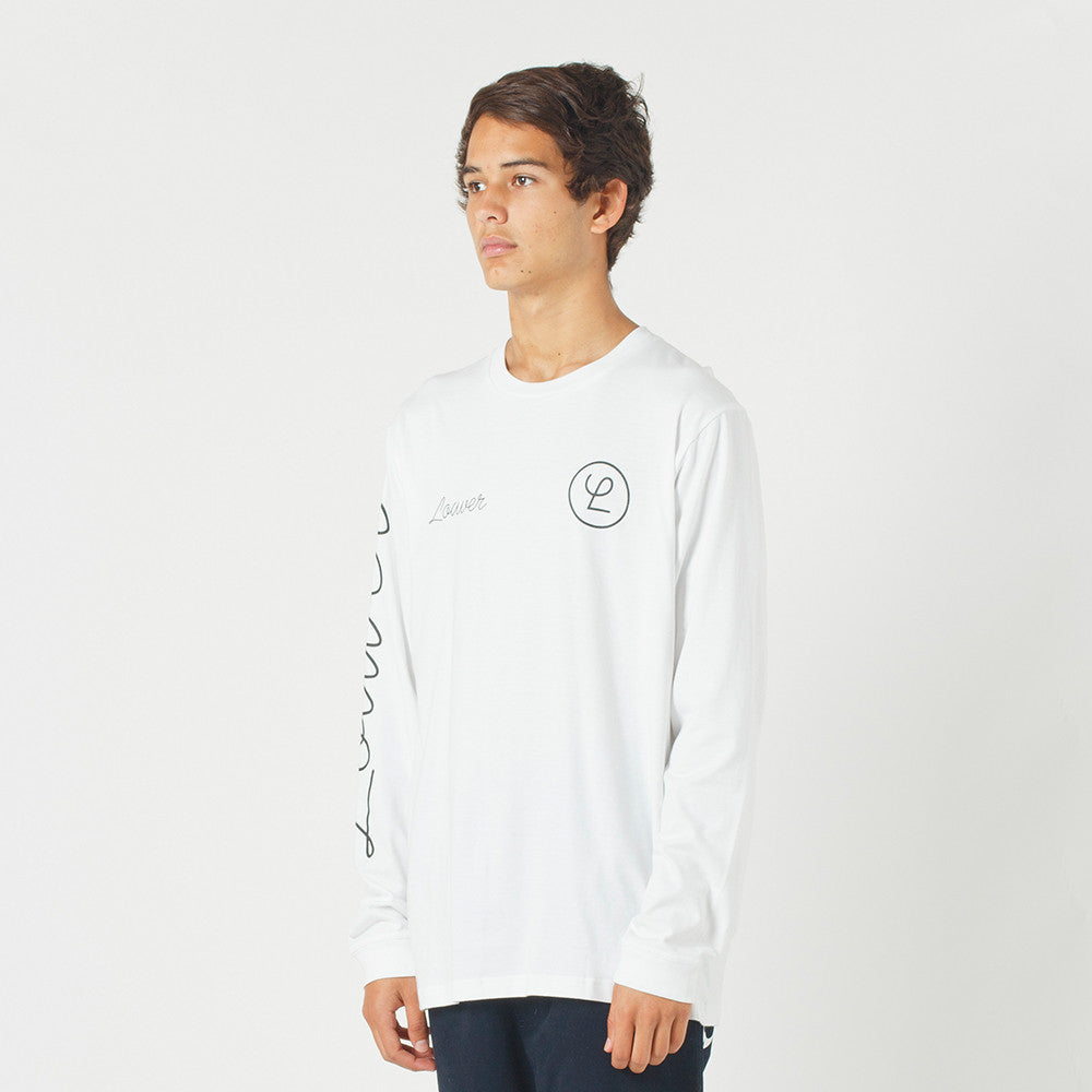 Lower QRS L/S Tee / Tier in White