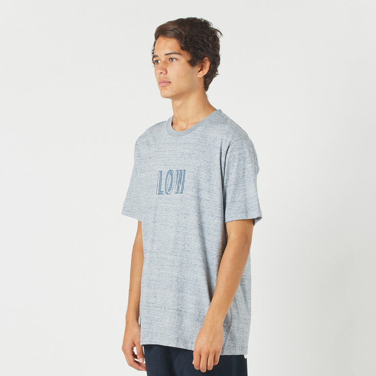 Lower QRS Tee / Simple in Grey