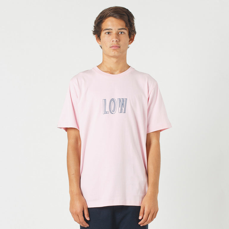 Lower QRS Tee / Simple - Pink