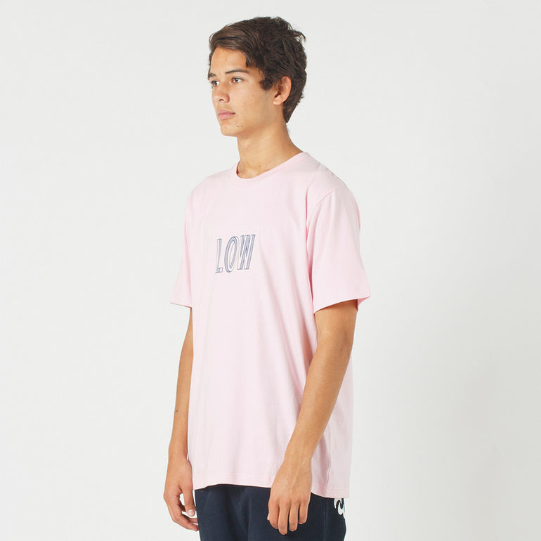 Lower QRS Tee / Simple in Pink