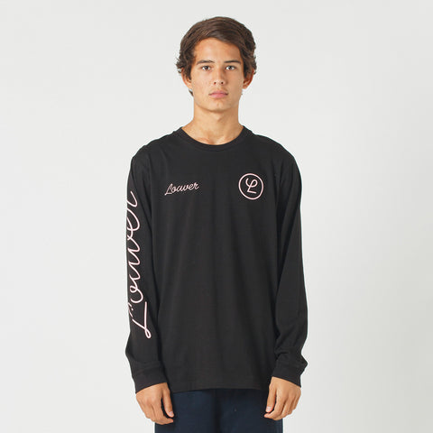 Lower QRS L/S Tee / Tier - Black
