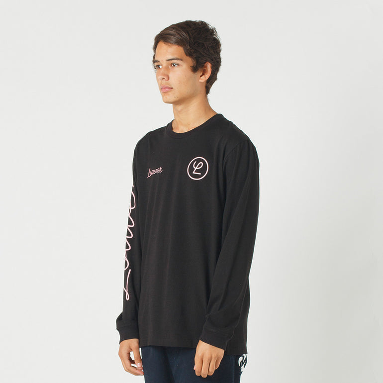 Lower QRS L/S Tee / Tier in Black