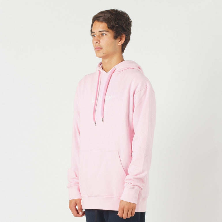 Lower Set Hood / Triple U (Embroidered) in Pink