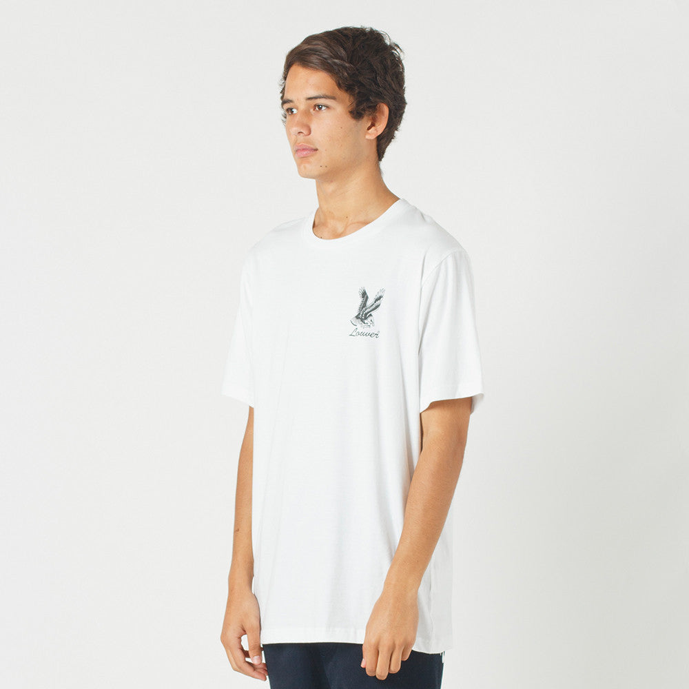 Lower QRS Tee / Where The Eagles Dare in White
