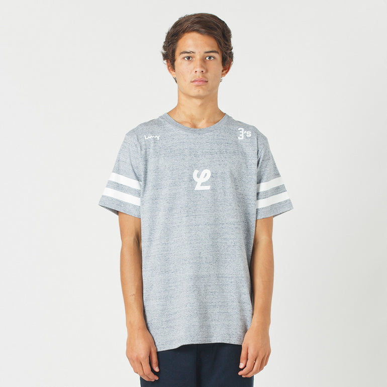 Lower QRS Tee / Yale - Grey