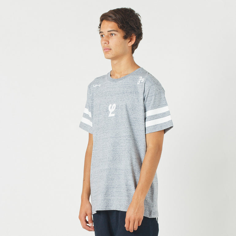 Lower QRS Tee / Yale in Grey