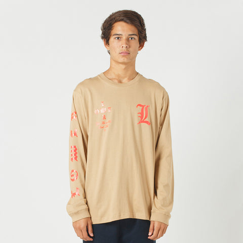 Lower QRS L/S Tee / Curve - Tan