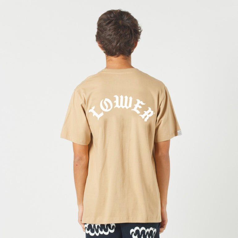 Lower QRS Tee / Curve in Tan