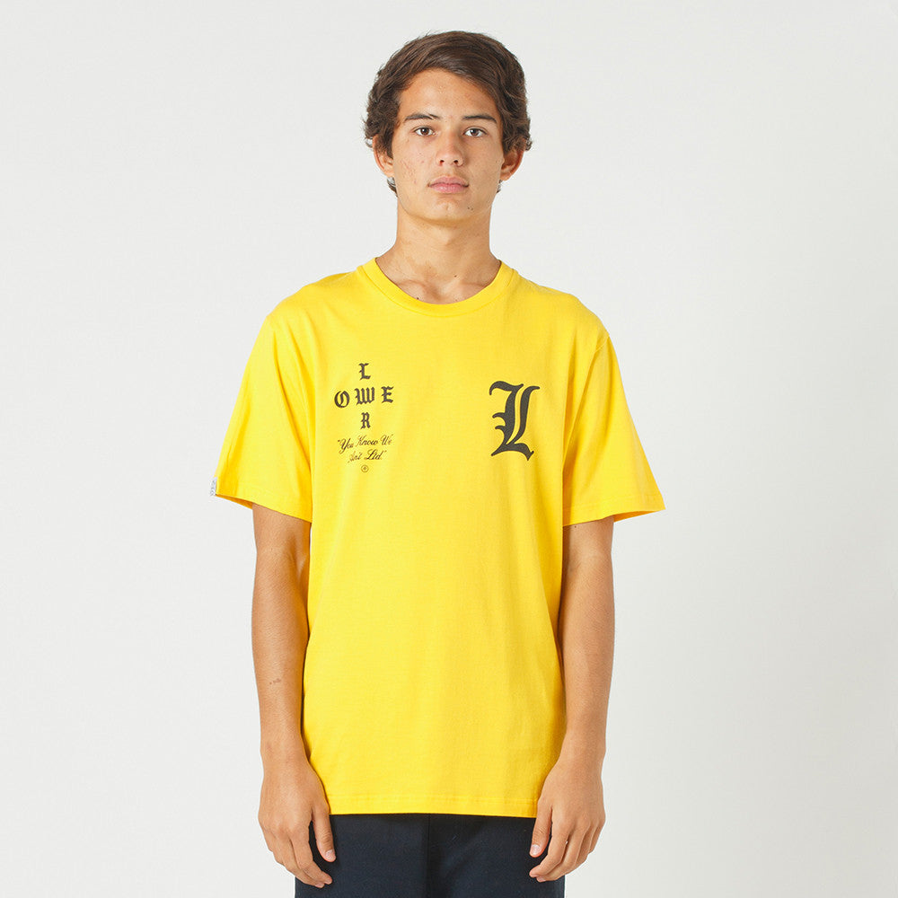 Lower QRS Tee / Curve - Yellow