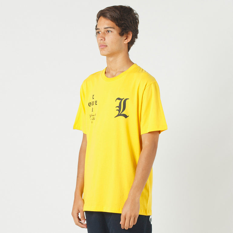 Lower QRS Tee / Curve in Yellow