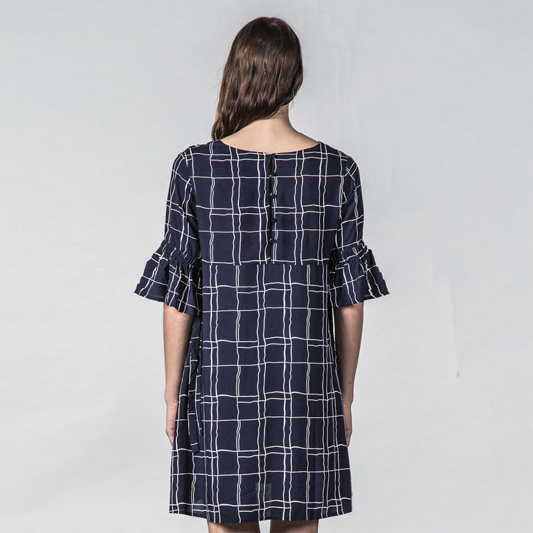 Thing Thing Tresspass Dress Wavy Navy