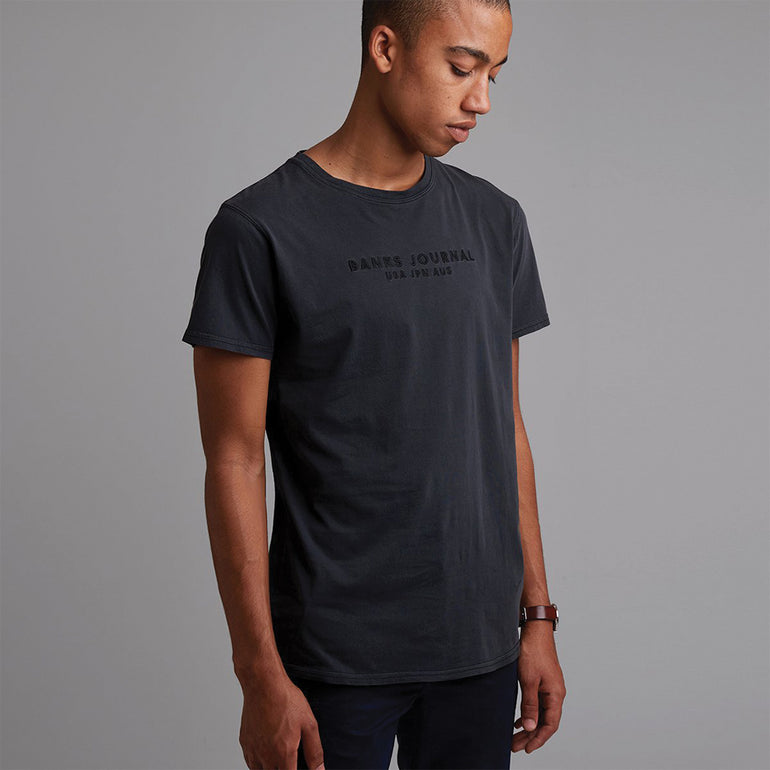 Banks Change Tee in Dirty Black