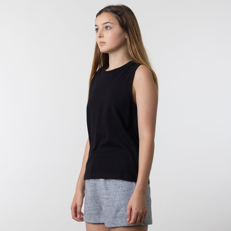 Lower Basic Essential Tank in Black