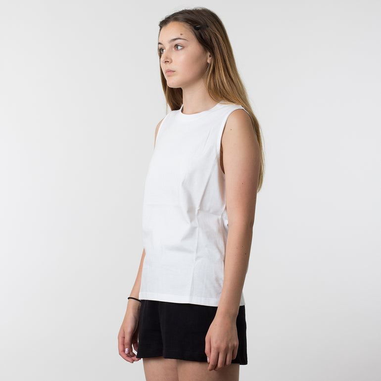 Lower Basic Essential Tank in White