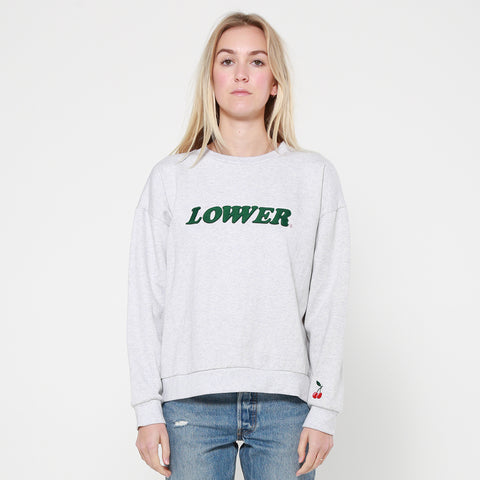 Lower Tilly Crew / Cherry Ripe - Silver Marle