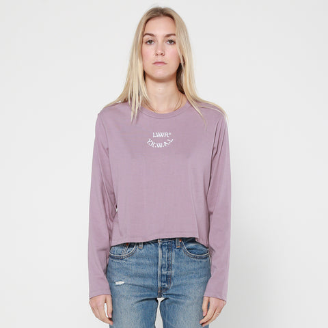 Lower Cropped L/S Tee / Cali - Purple
