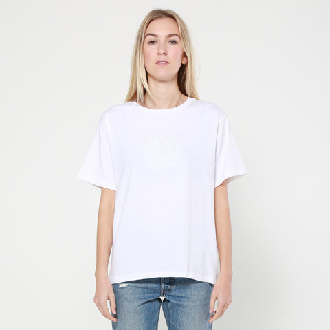 Lower Della Tee / Snaked - White