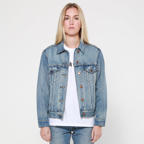 Lower Daisy Denim Jacket - Light Wash
