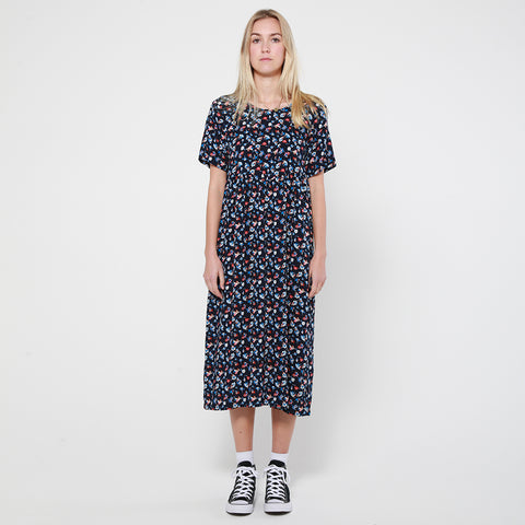 Lower Hugo Dress - Navy Floral