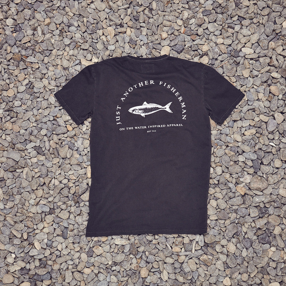 Just Another Fisherman Y Tee in Ashphalt
