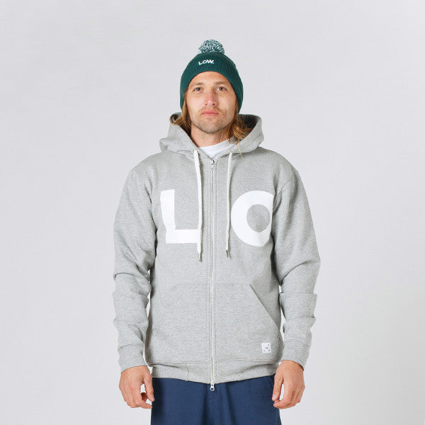 Lower Zip Hood / LO - Grey Marle
